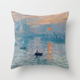 Claude Monet - Impression Sunrise Throw Pillow