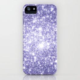 Galaxy Sparkle Dark Lavender iPhone Case