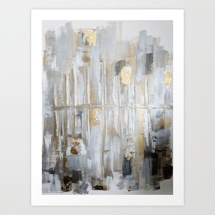 Metallic Abstract Kunstdrucke