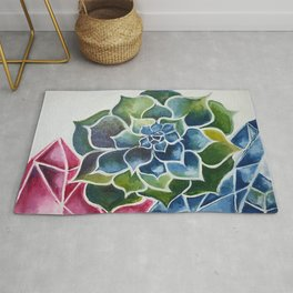 Succulents & Crystals Rug