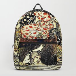 The Flowery Naiades By Arthur Rackham Backpack