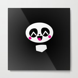 Kawaii Cute Panda Baby Gift Motif Design Metal Print