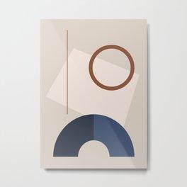 Minimal Geometric Shapes 72 Metal Print