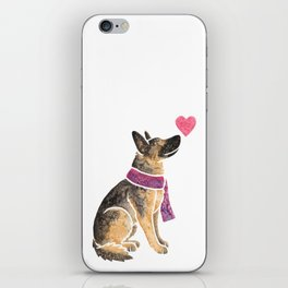 Watercolour German Shepherd Dog iPhone Skin