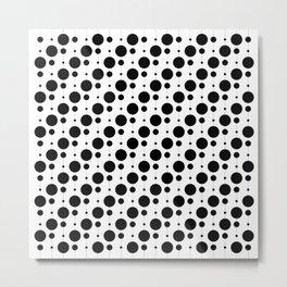 Black Pearls - Baby Stimulation Pattern Metal Print