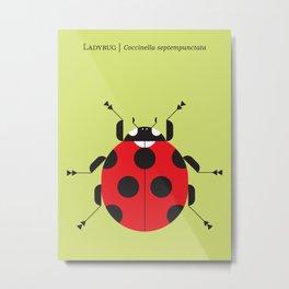 Lady Bug Yellow Metal Print