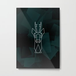 Timid roe deer Metal Print