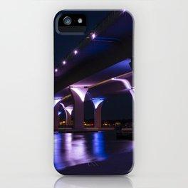 Lesner Bridge at Night iPhone Case