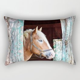 """Beauty in the Barn"" Rectangular Pillow"