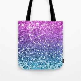 Bright Blue Purple Glitters Sparkling Pretty Chic Bling Background Tote Bag