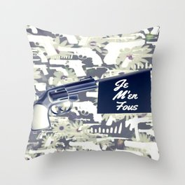 JE M'EN FOUS (I DON'T GIVE A F!) Throw Pillow
