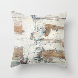 Wood planks epoxy resin repairing shipboard texture Throw Pillow