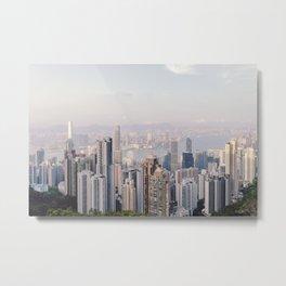 Hong Kong skyline by day Metal Print