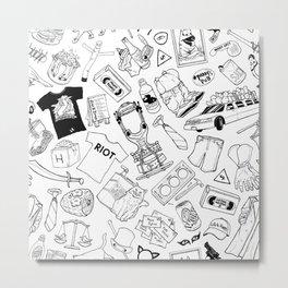 It's Always Sunny Illustration Pattern Metal Print