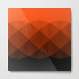 Orange to Black Ombre Signal Metal Print