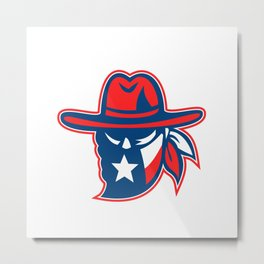 Texan Outlaw Texas Flag Mascot Metal Print