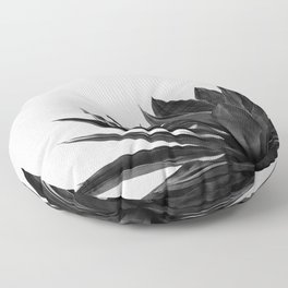 Agave Cactus Black & White Floor Pillow