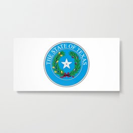 Texas State Seal Metal Print