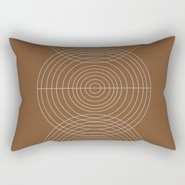 Burnt Orange, Geometric shape Rectangular Pillow