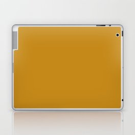 Golden Mustard Solid Color Pairs w/ Sherwin Williams 2020 Trending Color Auric Gold SW6692 Laptop & iPad Skin