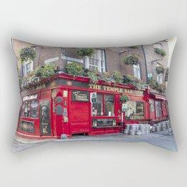 Early Morning at The Temple Bar, Dublin Rectangular Pillow
