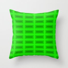 Strict convex rectangles of green tiles with shiny edges. Throw Pillow