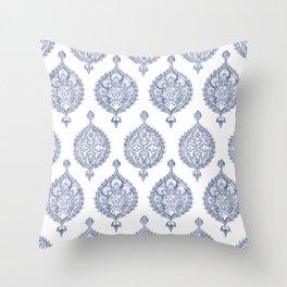 Endana Medallion Print in Periwinkle Throw Pillow