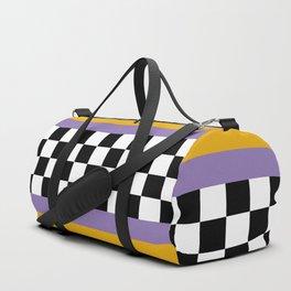 Checkered pattern grid / Vintage 80s / Retro 90s Duffle Bag
