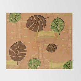 Tiki Bar Wallpaper Pattern Throw Blanket