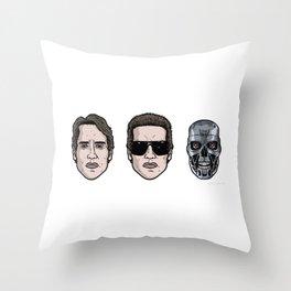 Schwarzenegger Cyborg T1 Throw Pillow