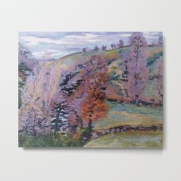 Crozant Landscape (also known as Grey Weather), 1910, Armand Guillaumin (1841 – 1927) (Art Paintings Metal Print
