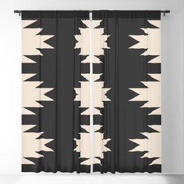 Minimal Southwestern - Charcoal Blackout Curtain