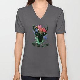 Wild Deer - Beautiful Red Deer Design Unisex V-Neck