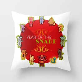 Chinese Zodiac - Year of the Snake Throw Pillow