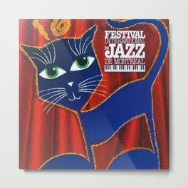 1995 Montreal Jazz Festival Cool Cats Poster Gig Advertisement Metal Print