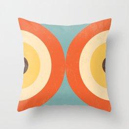 Mid Century Modern Geometrical 70s Style Retro Burnt Orange Throw Pillow