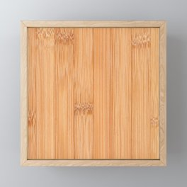 Cool elegant light brown bamboo wood print Framed Mini Art Print