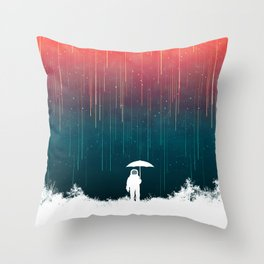 Meteoric rainfall Throw Pillow