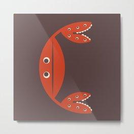 Letter C // Animal Alphabet // Crab Monogram Metal Print
