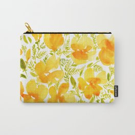 Watercolor California poppies (Quad set, #2) Carry-All Pouch