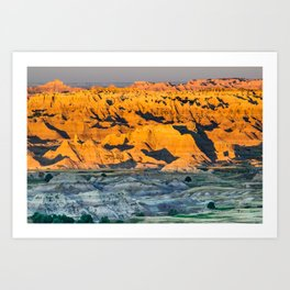 Badlands National Park Sunrise Landscape Photograph Art Print