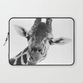 Giraffe Portrait // Grey Wild Animal Cute Zoo Safari Madagascar Wildlife Nursery Decor Ideas Laptop Sleeve