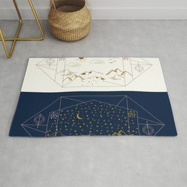 Day and Night Landscapes Rug