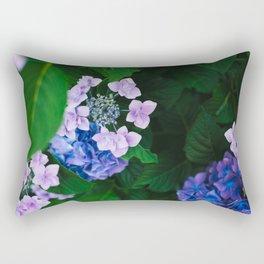 Blooming Purple Hydrangeas Rectangular Pillow