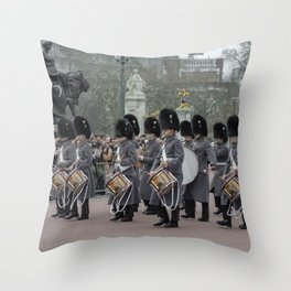 Welsh Guard Marching band During the Changing of the Guard London England Throw Pillow