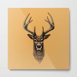 Golden Deer Metal Print