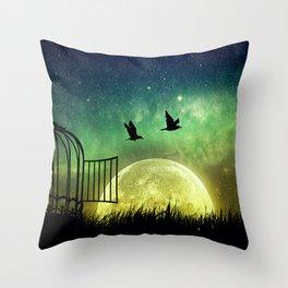 be free Throw Pillow