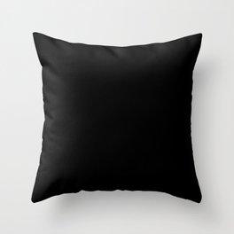 Black Minimalist Solid Color Block Throw Pillow