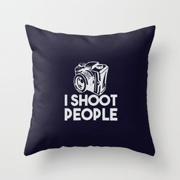 The photographer weapon Throw Pillow