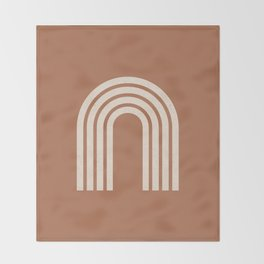 Woodblock arch terracotta Throw Blanket